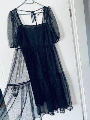 HM Chiffon Dress black