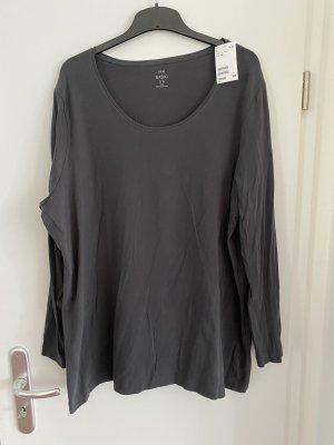NEU H&M+  Langarm-Shirt Gr.3XL Gr.52 grau Pullover Shirt