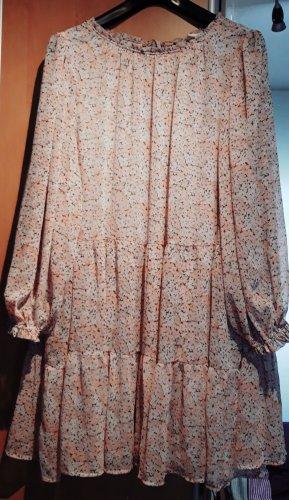 H&M Sukienka z falbanami różany