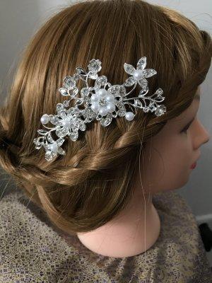 Accesorio para el pelo color plata-blanco