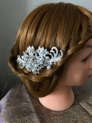 Hair Clip silver-colored