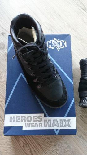 Haix Bottes à lacets noir cuir