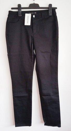 Hallhuber 7/8 Length Trousers black cotton
