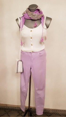 Hallhuber Spodnie rurki jasny różowy-bladofiołkowy