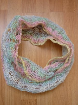 Handmade Summer Scarf multicolored mixture fibre