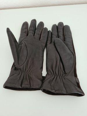 Leren handschoenen donkerbruin