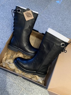 Harley Davidson Biker Boots black leather