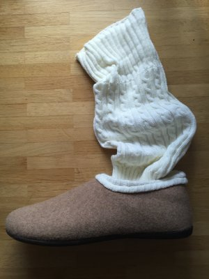 Rohde Pantoufles-chaussette beige-crème feutre