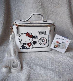 NEU Hello Kitty Umhängetasche Kameratasche Kunstleder Limited Edition weiß