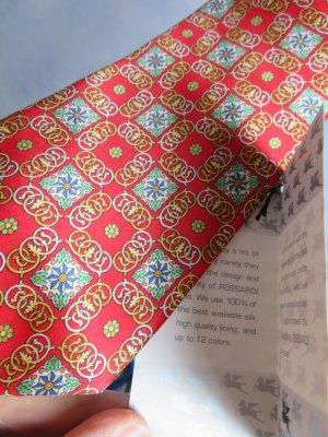Vintage Foulard en soie rouge clair-doré