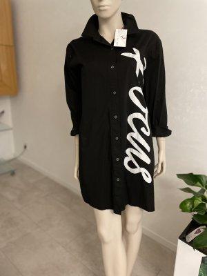 0039 Italy Vestido de tela de jersey negro