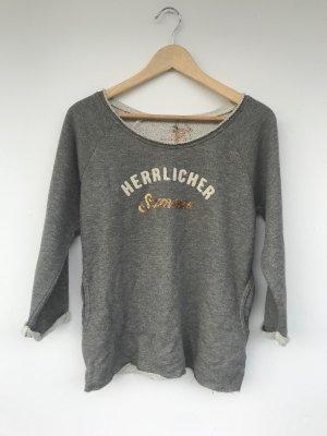 Blaustoff Herrlicher Crewneck Sweater grey-natural white cotton