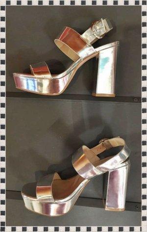 NEU High Heel Sandalette silber von H&M /Gr. 37