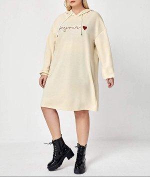 NEU Hoodie-Kleid Gr.50 Gr.XXL Longpullover Pullover beige