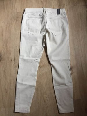 Marc O'Polo Stretch Trousers cream-oatmeal cotton