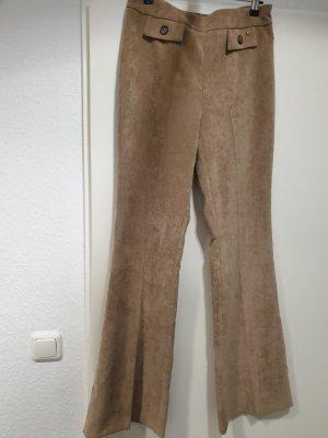 Pantalón de campana marrón