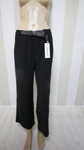 Pantalon 7/8 noir-argenté