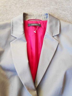 NEU Hosenanzug Anzug silber grau mit pinkem Innenfutter Größe 36/38