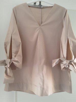 COS Blusa collo a cravatta rosa antico-color oro rosa Cotone
