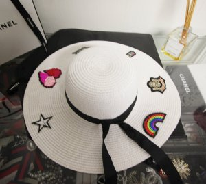 Sun Hat white-black