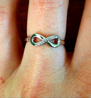 NEU Infinity Glitzer Silber Ring 925 er Silberring Gr.54
