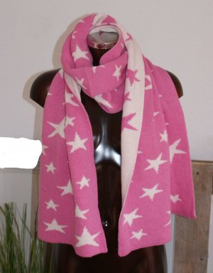 Cashmere Scarf pink-natural white cashmere