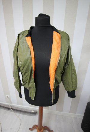 Bomber Jacket black-orange