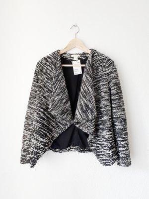 H&M Veste cache-coeur blanc-noir