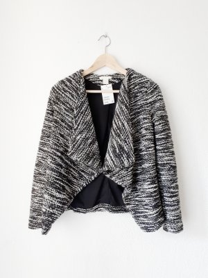 H&M Wraparound Jacket white-black