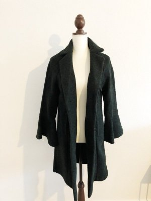 NEU Jacke Mantel mit Glockenärmeln grün dunkelgrün Größe M
