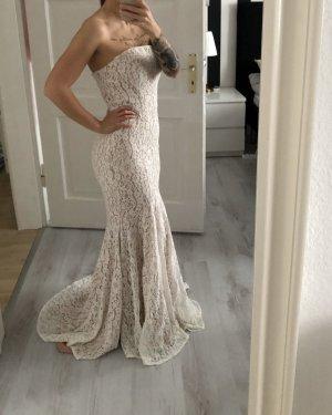 !Neu! JARLO Kleid / Ballkleid / BrautKleid weiß-nude-Spitze