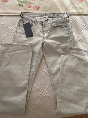 NEU, Jeans, 7 for all mankind, stretch, bootcut, hellblau, Gr. 25