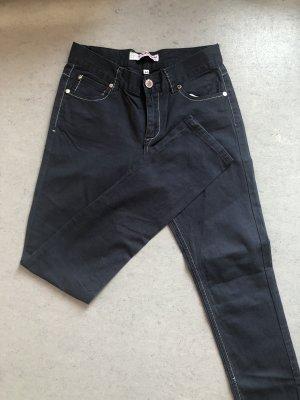 Jeans vita bassa blu-blu acciaio