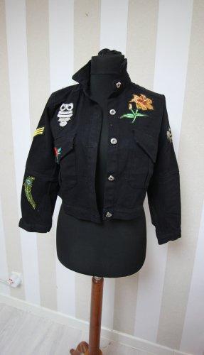 Jeansowa kurtka czarny
