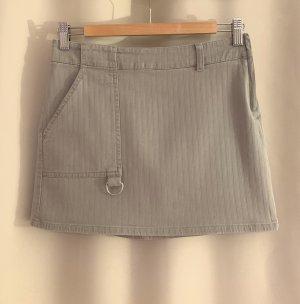 NEU Jeans Minirock kurzer Rock 34 XS Khaki Baumwolle stretch