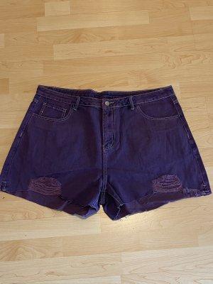NEU Jeans-Shorts Gr.50 Gr.3XL kurze Hose Lila
