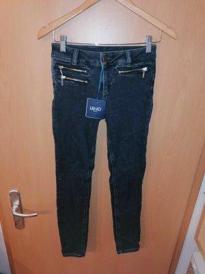 Liu jo Jeans cigarette noir-gris anthracite