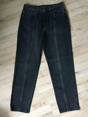 Massimo Dutti Jeans a vita alta blu scuro Cotone