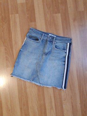 Anti Blue Jeansowa spódnica biały-niebieski Denim