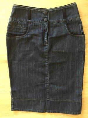Armani Collezioni Gonna di jeans blu scuro Cotone