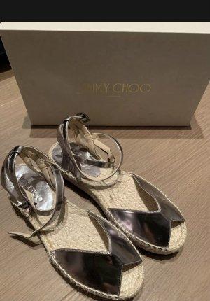 Jimmy Choo Platform Sandals silver-colored