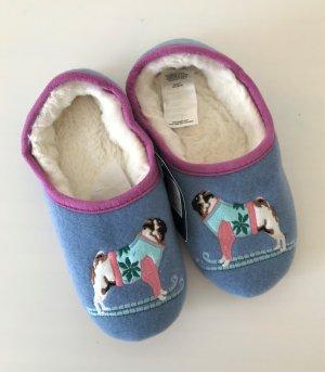 NEU Joules Damen Pantoffeln 36/37 Hausschuhe Tom Joule Slipper Bluedog Slippets