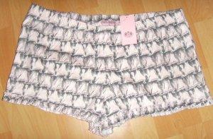 *NEU* Juicy Couture Shorts Pyjama Hose Rüschen Rosa Nude süß Gr. 38/ 40 L