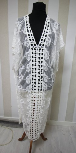 NEU Kaftan Maxikleid Crochet Sommer Beach Dress transparent