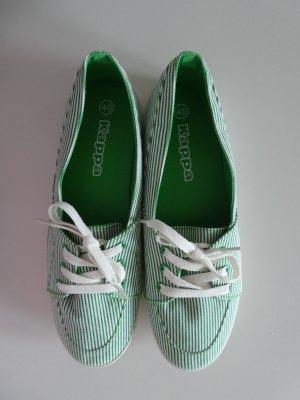 NEU - Kappa – Damen Sneaker low, grün-weiß fein gestreift