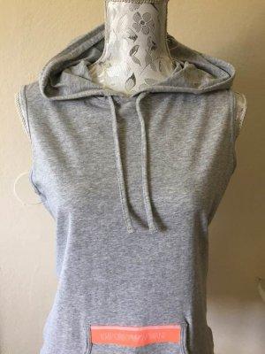 Emporio Armani Camicia con cappuccio grigio chiaro-salmone Cotone
