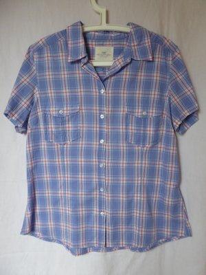 NEU: Karierte Kurzarm-Bluse von L.O.G.G. (H&M)