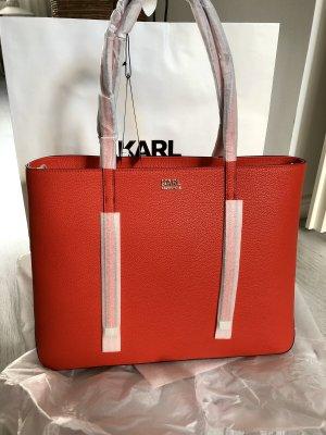 ☀️ NEU Karl LAGERFELD Shopper Tasche Blogger Rot Zara Mango