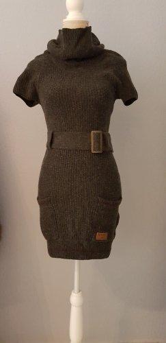NEU KHUJO Winterkleid Kleid ANGORA ANTEIL Strickkleid hohe Kragen WARM!
