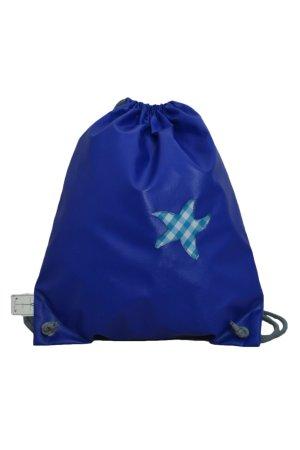 Plecak do przedszkola niebieski neonowy